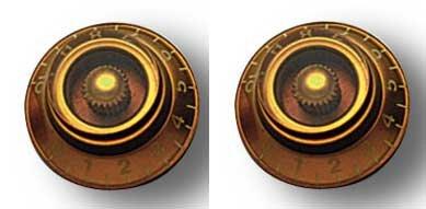 Amber Bell (Allparts PK-0140-022 Bell Knöpfe (2 Stück) amber)