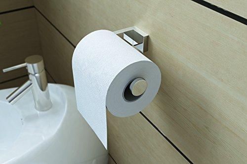 Design Toilettenpapierhalter MMA806, Messing verchromt, WC-Rollenhalter, Toilettenrollenhalter