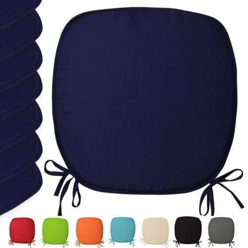 TopStyleFashion4u Sitzkissen für Garten, Esszimmer, luxuriös, zum Anbinden, Set von 2,4,6,8,10Stück