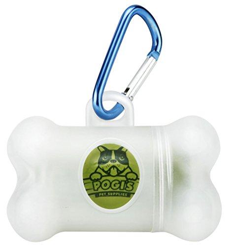 Pogi's Hundekotbeutel – 50 Rollen (750 Tüten) +2 Spender – große, biologisch abbaubare, parfümierte, tropfsichere Hundetüten - 6