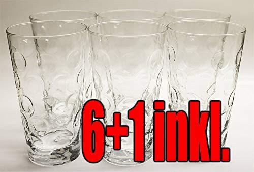 Böckling Premium Dubbegläser - Schoppengläser Set 0,5l aus der Pfalz / 6 Stück/Inklusive 1 Dubbeglas 0,2L / Pfälzer Schoppenglas