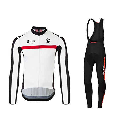 Uglyfrog Bike Wear Vestiti Ciclismo Magliette Jersey+Long Bib Pantaloni Tight Body Sets Uomo Mountain Bike Manica Corta Camicia Top