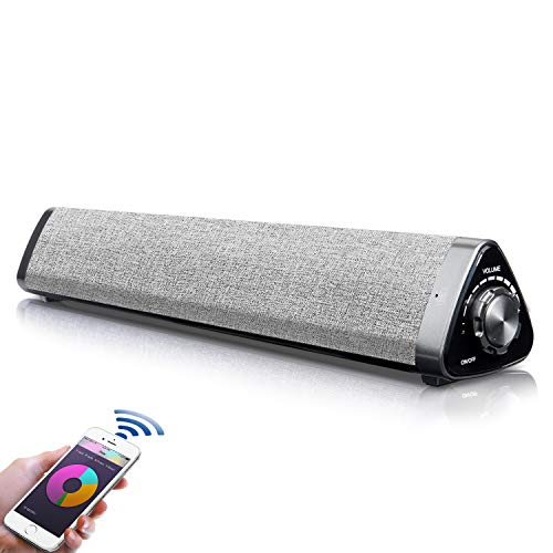 【Innovationsversion】 Soundbar TV, Fityou 5.0 Bluetooth Lautsprecher, Soundbar Bluetooth Heimkino Surround Sound für Fernseher, PC, Mobilgeräte, leistungsstarken Sound, Cinch/AUX/, mit Fernbedienung