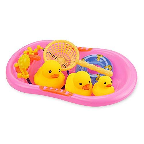 HappySDH Badespielzeug Baby Kleine gelbe Ente Badespaß Badewannen Strandspielzeug Dusche Pool und Schwimmbad Kleinkindspielzeug ideal als Geschenk