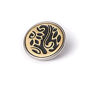 Noosa Chunk 051 Metal Button brass/ black-brass