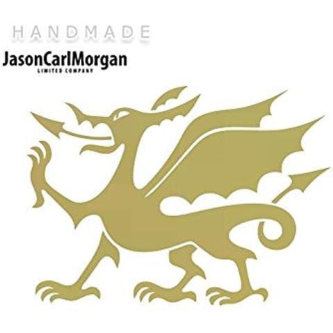 Adhesivo de hierro en la transferencia JCM¨, de oro del Dragón Galés