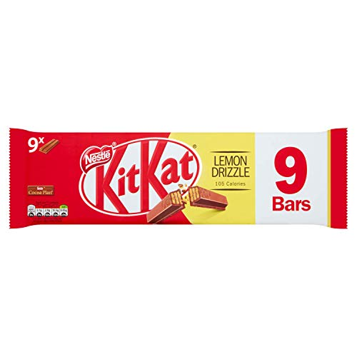 KitKat 2 Finger Lemon Drizzle Chocolate Biscuit Bar, 9 x 20.7 g