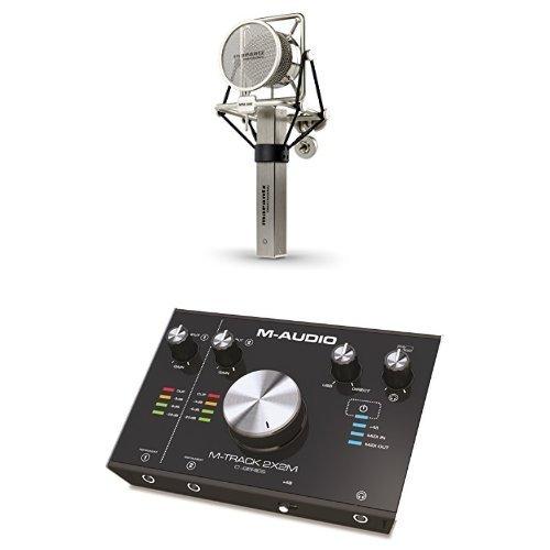 Marantz Pro Mpm-3000 Microfono a Condensatore Cardioide di Alta Qualità con Diaframma Largo e Valigetta in Alluminio + M-Audio M-Track 2X2M Interfaccia Audio MIDI USB a 2 Canali con Risoluzione 24Bit/192Khz + Pacchetto Software con Cubase Le, Plugin Air, Strike, Xpand!2 e Mini Grand