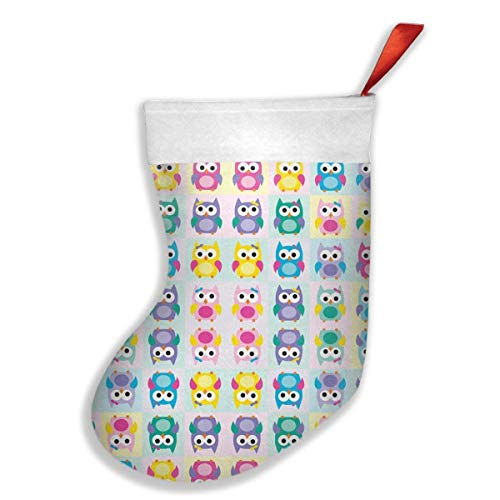 Jiayou J Girl Owls Christmas Stockings Fireplace Decor DecorationChristmas Holiday Stockings for Party Accessory,