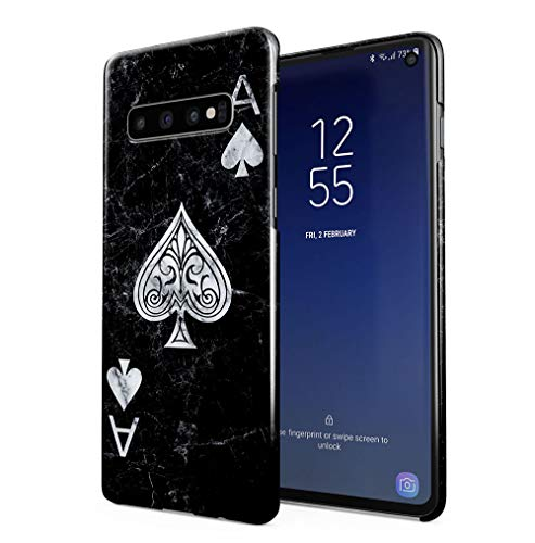 Maceste Ace of Spades Black Marble Kompatibel mit Samsung Galaxy S10e SnapOn Hard Plastic Phone Protective Fall Handyhülle Case Cover