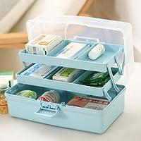 Orpio Large Double Layer Home Storage Box Medicine Cabinet Drug Organizer Case First Aid Kit Box