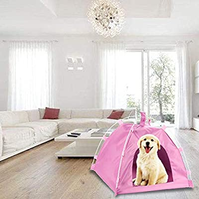 poetryer Portable Pet Tent Sun Protection Pet Tent Rainproof Pet Dome Tent Sun Canopy For Dog Cat Pet Indoor And Outdoor Use by poetryer