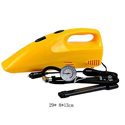 BHJqsy Autostaubsauger, Handstaubsauger, Hochleistungsautostaubsauger, Luftpumpenauto-Zwei-in-Eins-Staubsauger, Luftpumpen-Reifendruckmesser Hochleistungs-Nass- und Trockensauger Tragbarer Autostaubsa
