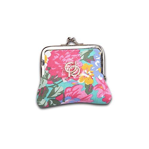 Faysting EU vari colori donna borsellino donna portafoglio cinese fiore decorato fashion stile buon regalo H