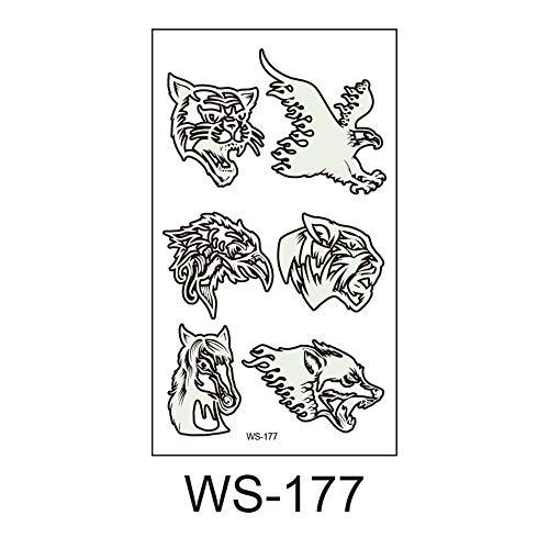 lloween, Leuchtend, Kinder Tattoo Aufkleber, Umweltschutz, wasserdicht, Schweiß, lustige Cartoon Einweg-Aufkleber 6 10,5x6cm ()
