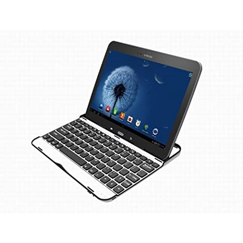 JAMMYLIZARD | Teclado De Aluminio Ultraligero Para Samsung Galaxy TAB 3 10.1 Conexión Bluetooth,