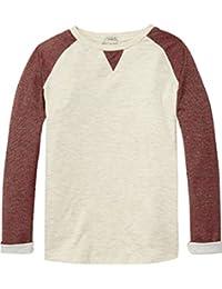Scotch & Soda R'Belle Mädchen Sweatshirt Long Sleeve Bonded Glitter Jersey Mehrfarbig (Combo I 588), 128