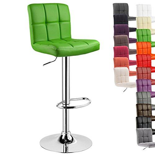WOLTU® 1 x Barhocker Barstuhl Tresenhocker Stuhl drehbar und höhenverstellbar Tresen Hocker Kunstleder Grün 9168-1