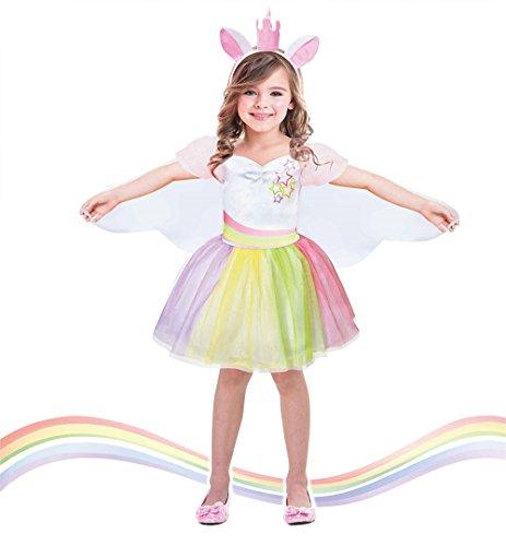 u Kleid Kids Magische Fee Flügel Kostüme Cosplay, mehrfarbig (Anna Tutu Halloween Kostüm)