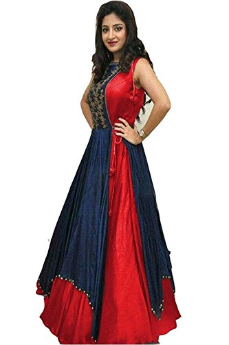 gowns for women party wear western(red_freesize)