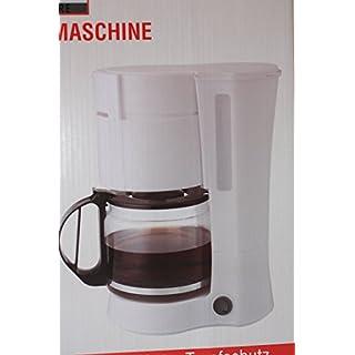 Kaffeemaschine COOK IT für 12 Tassen weiss 1000 W Tropfschutz Dauerfilter Kaffee