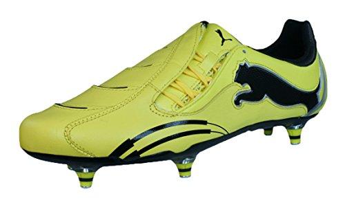 Sg Rugby Stiefel (Puma PowerCat 1.10 Rugby WC SG Herren-Leder-Rugby Stiefel-Yellow-45)