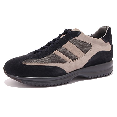 1103G sneaker blu grigio SANTONI CLUB scarpa uomo shoes men [10]