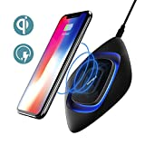 Cargador Inalámbrico Rápido, Wofalo Almohadilla de Carga Base de Carga para Samsung S7/S7 Edge/S8/S8 Plus/ Note 8, Qi-Habilitado Cargo Estándar para Phone X/ iPhone8/8 Plus y Todos Móviles con QI