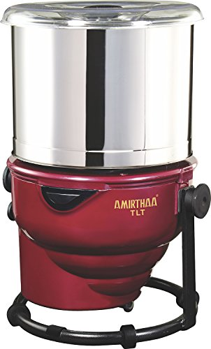 AMIRTHAA TLT Tilting Tabletop Wet Grinder - 2 Liter (Wine Red)