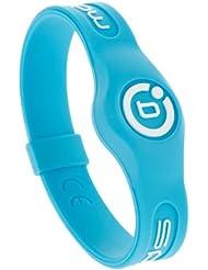 Deporte pulsera magnética neón Bioflow azul/blanco, color Azul - azul, tamaño S 17.5cm