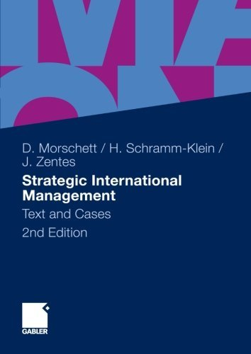 Strategic International Management: Text and Cases by Dirk Morschett (2010-10-01)