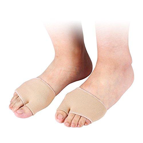 Gel Mitad del dedo del pie Manga metatarsiana Almohadillas para aliviar el dolor en el antepié Protección contra el alivio de la presión de choque Cuidado de los pies Juanete(S)