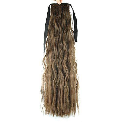 Neu Perücke stilvoll gelockt Lang Haar Wigs Perücken sexy lang Damen Natürliche Perücke Gewellt für Karneval Cosplay Halloween