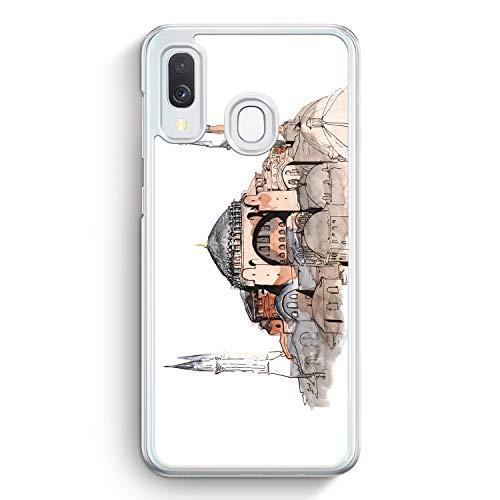 Hagia Sophia Ayasofya Istanbul Türkei - Hülle für Samsung Galaxy A40 - Motiv Design Türkiye Cami Islam - Cover Hardcase Handyhülle Schutzhülle Case Schale