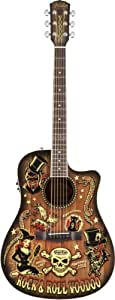 Guitares acoustiques FENDER VINCE RAY VOODOO BUCKET 300CE Folk