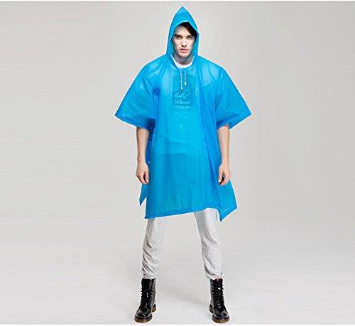 Keleidun Poncho imperméable en EVA Idéal pour extérieur/vélo Taille Adulte Bleu - Bleu