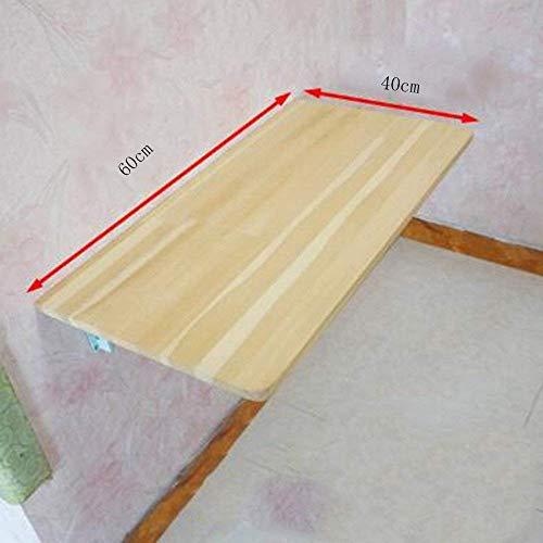 SED Multifunktions Kleine Tabelle Haushalt Wandbehang Kiefer Gestelle Zusammenklappbare Set-Top Box Regal für Küche Bad Schlafsaal Schlafzimmer Einfache Studie Tisch,60 * 40 cm