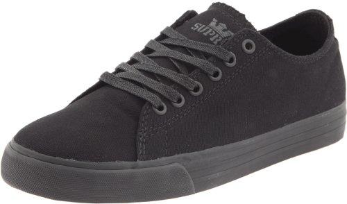 Supra Shoes Thunder Low Black Satin Tuff gearbeitet, Schwarz - schwarz - Größe: 45 1/2 -
