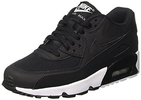 Nike Air Max 90 Mesh (Gs), Chaussures de Gymnastique Garçon, Noir (Black/Black-White), 38 EU