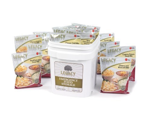 Long Term Gluten Free Food Storage: 60 Large Servings - 15 lbs Emergency Survival Meals - Disaster Insurance Supplies with 25 Year Shelf Life - Prepper by Legacy Premium Food Storage