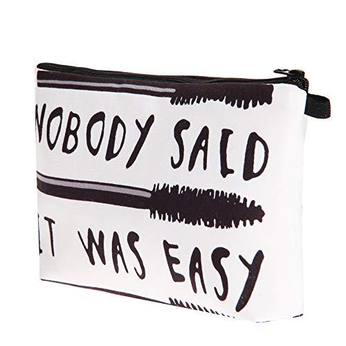 hahuha Schönheit, Women Letters Printing Makeup Cosmetic Bag Toiletry Storage Travel Wash Handbag - Rote Bio-conditioner