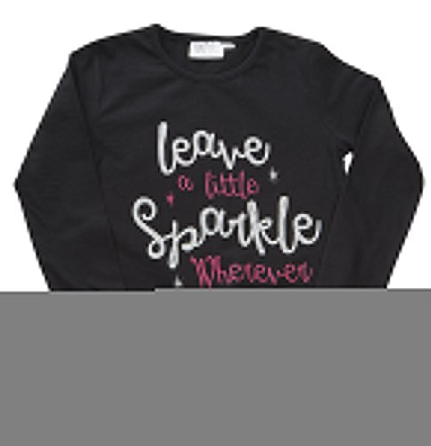 Childrens Kids Girls Long Sleeve Tshirt Printed Graphic Cotton Top Ages 2-6 NEW
