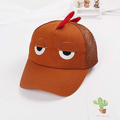 mlpnko Neue Kindermaske der Baseballmütze derhartenKinder derKarikaturatmungsaktive Maschenkappenbabysonnenhutaugen-Kaffeefarbe 50-52cm verwendbar für 2-4 Jahre alt (Hirten Kostüm 2 3 Jahre)