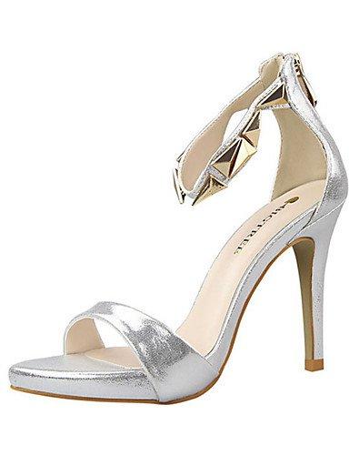 WSS 2016 Chaussures Femme-Décontracté-Noir / Rose / Rouge / Argent / Gris / Or-Talon Aiguille-Talons-Chaussures à Talons-Polyuréthane gray-us6 / eu36 / uk4 / cn36
