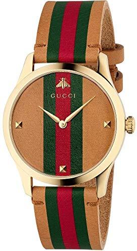 Gucci G-Timeless Damen-Armbanduhr 38mm Armband Leder Gehäuse Quarz YA1264077