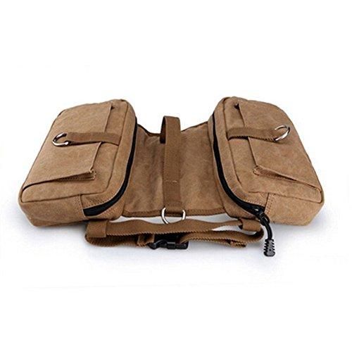 Leinwand Haustier Satteltasche Carrier Large Dog Verstellbarer Riemen Rucksack Harness Leinwand Satteltasche Outdoor Travel Training Camping Wandern Rucksäcke