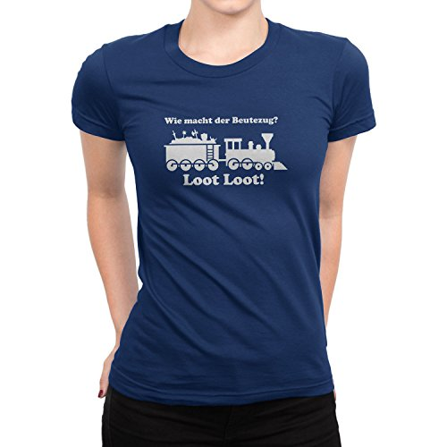 - Damen T-Shirt, Größe M, dunkelblau ()