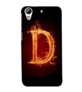 For HTC Desire 728 Dual Sim :: HTC Desire 728G Dual Sim d icon, fire icon, icon, black background Designer Printed High Quality Smooth Matte Protective Mobile Case Back Pouch Cover by APEX