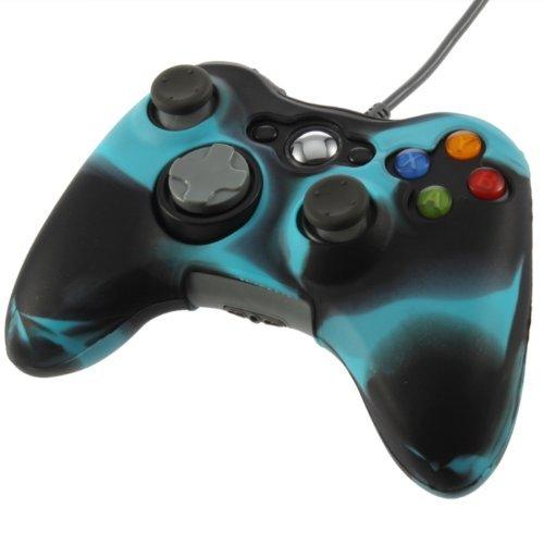 yks-anti-glare-silicone-skin-case-cover-for-xbox-360-controller-blue-black
