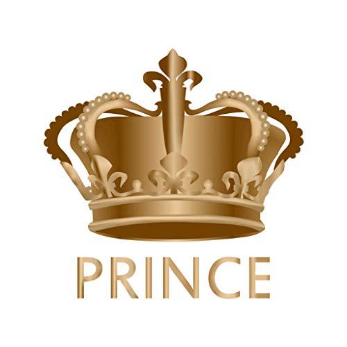 TENNER.LONDON Prinz-Krone zum Aufbügeln, Siebdruck, maschinenwaschbar, Transfer Royal Prince's Crown